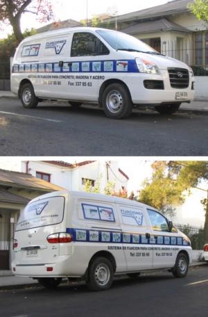 Publicidad para furgones, autos, camiones, economica, PUBLICIDAD AUTOADHESIVA,
