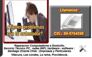 SERVICIO TECNICO COMPUTACION DOMICILIO CEL 09-5764286 - LAS CONDES, LA REIN