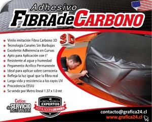 Autoadhesivo imitación Fibra de Carbono 3D