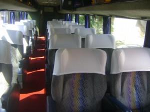 17 asientos cama impecables con sus frazadas y almohadas